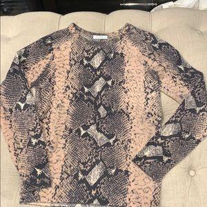 100% cashmere snake-print sweater